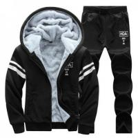 Men's Sportwear Sets Winter Casual Hoodies Two Piece Sets Printing Solid Color