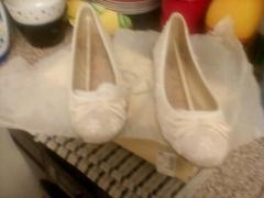 Pair of cream flat Shoes never worn