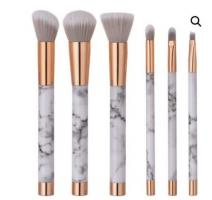 Marble Rose Gold 6pc Brush Set