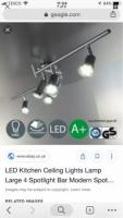 Casalux LED Ceiling Track Light Fitting Incl. 6 LED Bulbs New In Box