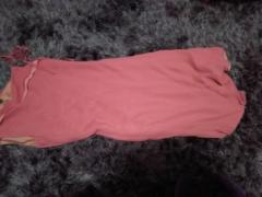 Very pretty dark pink Ted Baker designer one shoulder dress.