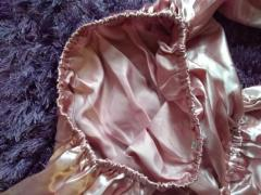 Brand new, pretty salmon pink satin top