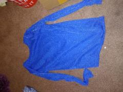 Brand new, never worn, very pretty blue glittery long sleeve top