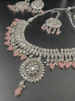 Indian polki jewellery set