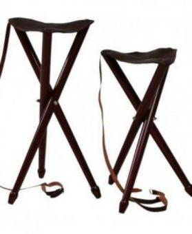 wooden tripod comfortable seat stool