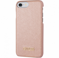 ORIGINAL Guess Saffiano Look PU Back Case For IPhone 7/8 , Pink