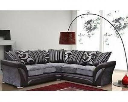 Shannon chennile fabric designer sofa -- 3,2 & corner set available