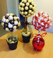 Handmade chocolate trees