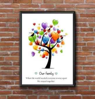 COVID TOGETHER AS A FAMILY PRINTS