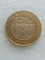 2 pound coin Trevithick. Steam engine 2004.