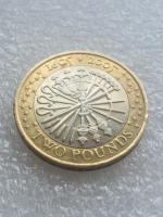 2 pound coin guy fawkes the fifth of November 2005.