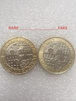 2 pound coin act of union 2007. Rare and fake.