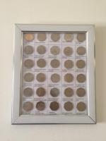 50p coins set of 30 coins with photo frame.