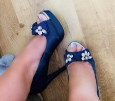 Women's blue shoes heels by next size 4
