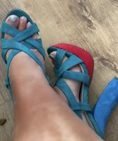 Women's multicoloured platform shoes by via giulia size 4