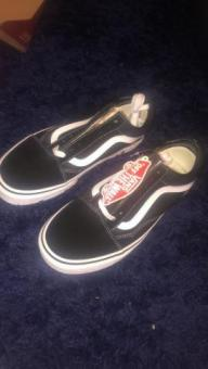 Size 7 black and white vans