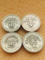 Old 1 pound coin set of 4 coin..