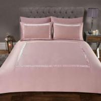 SIENNA Crushed Velvet Border Duvet Set