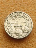 Old 1 pound coin Belfast cities 2010...