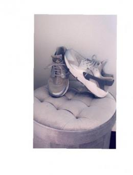 Grey and silver Huaraches