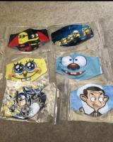 New kids children's Disney marvel face mask protective reusable washable