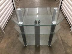 3-tiered glass tv stand