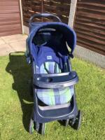 MOTHERCARE RECLINING PUSHCHAIR WITH COSY TOES AND APRON