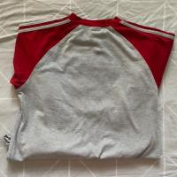 Red and Grey Adidas top, long sleeve