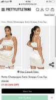 Pretty little thing champagne co ord set