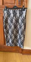 Ice Babes silver and black lace  skirt ladies