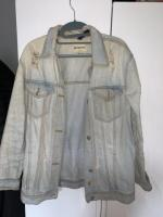 Denim washed midi jacket size 12