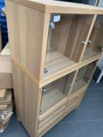 4 door 4 draw glass display unit