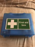 All blue first aid kit
