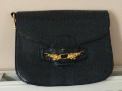 Navy clutch bag