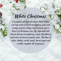Darceys white Christmas large candle and 2 pack of coasters