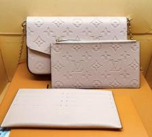 New beautiful 3 peace leather handbag set with box