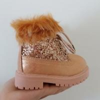 Kids Faux Fur Lined Boots - Champagne
