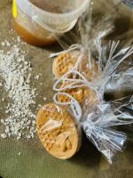 Homemade soaps with honey, oatmeal and goat milk