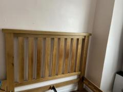 Chunky solid oak heavy double European bed