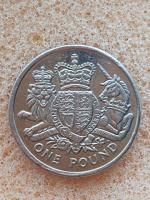 Old 1 pound coin royal coat of arms 2015..