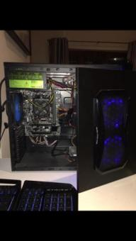 Gaming PC (black and blue)