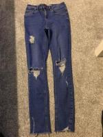 Blue ripped topshop jeans