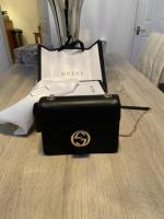Gucci multi-way cross body bag with gold chain