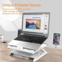 Laptop Stand with Smartphone Holder Adjustable Angle