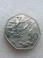 50p coin large  D _ day 1994 .