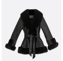 New look black faux fur coat
