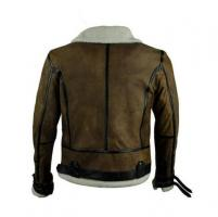 Brand new custom made fashionable sheep skin leather jacket