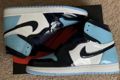 Jordan 1 high patent unc (blue chill)