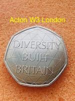 50p coin diversity built Britain 2020.